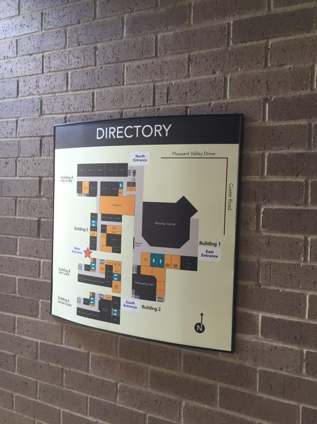 Wall directory signage solutions